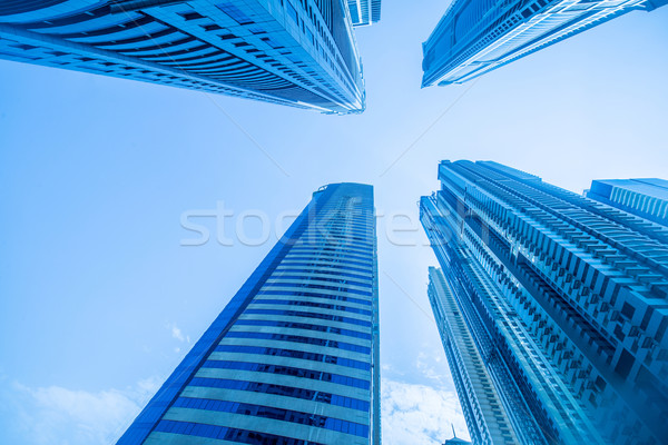 Tall Dubai Marina skyscrapers in UAE Stock photo © Elnur