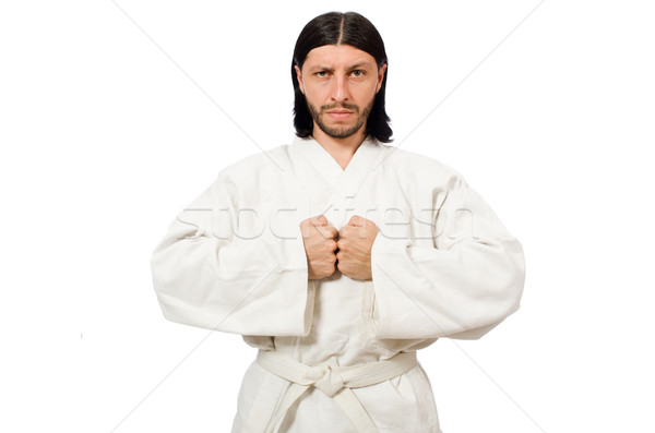 Karate fighter isolated on white Stock photo © Elnur