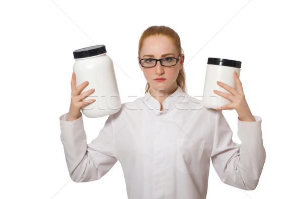 Jovem feminino médico jarra proteína Foto stock © Elnur