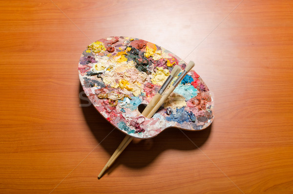 Artist palette in art concept Stock photo © Elnur