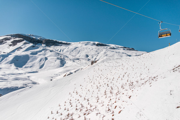 Ski lifts durings bright winter day Stock photo © Elnur