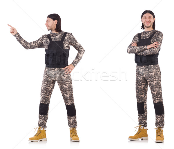 The soldier isolated on the white background Stock photo © Elnur