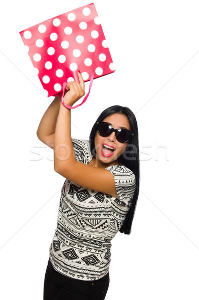 Mulher isolado branco feliz feminino Foto stock © Elnur