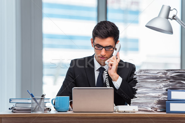 The young businessman talking on the phone Stock photo © Elnur