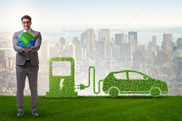 Electric car concept in green environment concept Stock photo © Elnur