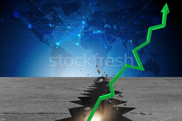 Economisch genezing business 3D teken Stockfoto © Elnur