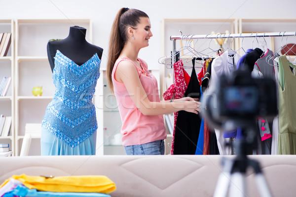 De trabajo moda blogger negocios vídeo Foto stock © Elnur