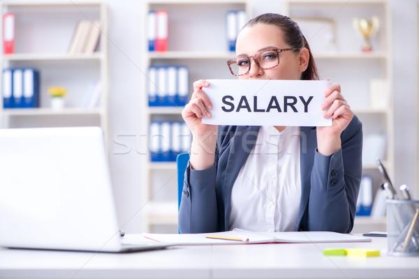 Businesswoman hiring new employees in office Stock photo © Elnur