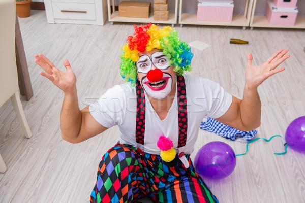 Bêbado palhaço festa casa sorrir Foto stock © Elnur