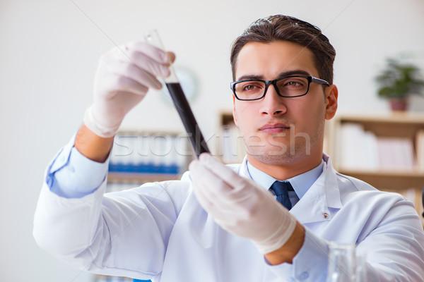 Chemische ingenieur werken olie lab Stockfoto © Elnur