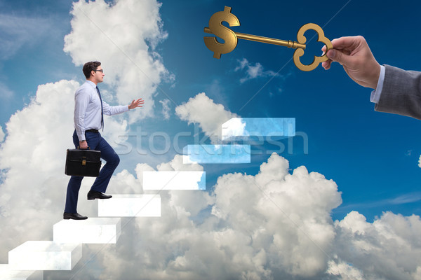 Stock photo: Concept of key to financial success and prosperity