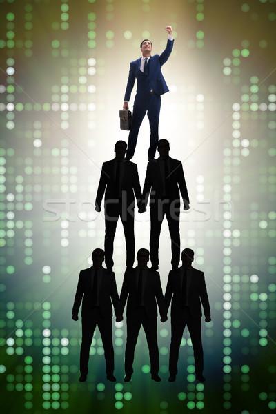üzletember felső szervezet diagram üzlet igazgató Stock fotó © Elnur
