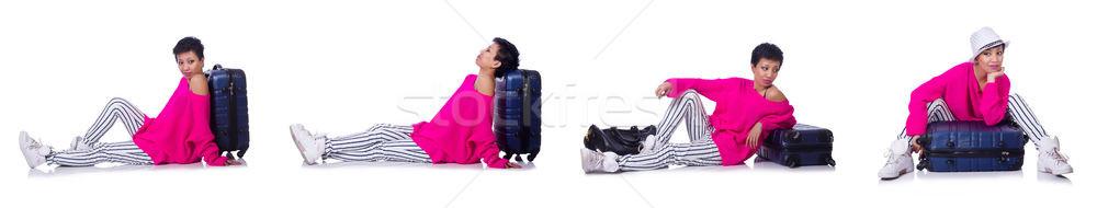 Mulher férias de verão negócio menina verão aeroporto Foto stock © Elnur