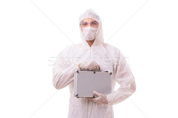 Takım elbise çelik durum doktor tıbbi arka plan Stok fotoğraf © Elnur