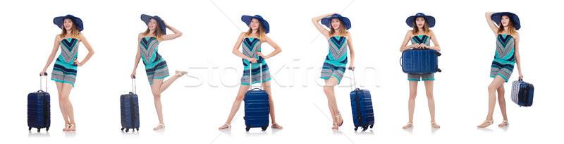 Femme vacances d'été isolé blanche plage fille Photo stock © Elnur