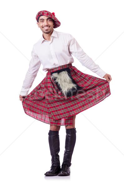 Traditionen Person tragen Straße Tasche Kleidung Stock foto © Elnur