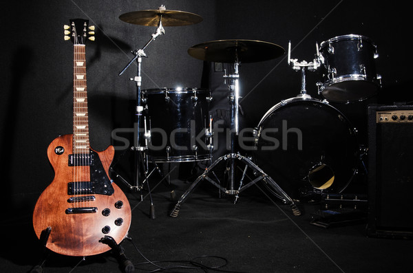 Set of musical instruments during concert Stock photo © Elnur