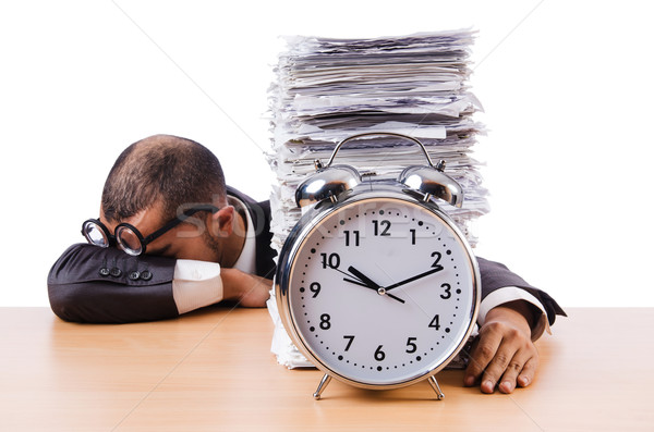 Człowiek nie spotkanie terminy zegar pracy Zdjęcia stock © Elnur