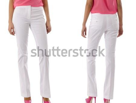 Pantaloni modello isolato jeans pelle femminile Foto d'archivio © Elnur