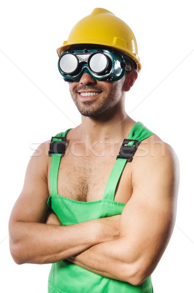 Man groene stofbril bouw werk industrie Stockfoto © Elnur