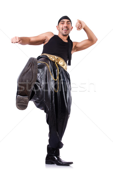 Stock photo: Rap dancer isolated on the white