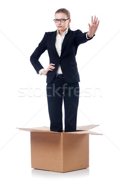 женщину деловая женщина изолированный белый служба фон Сток-фото © Elnur