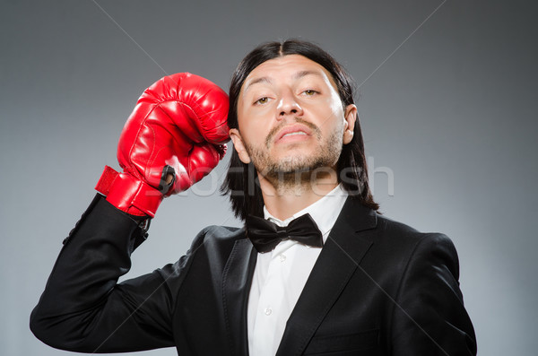 Man businessman with boxing gloves Stock photo © Elnur