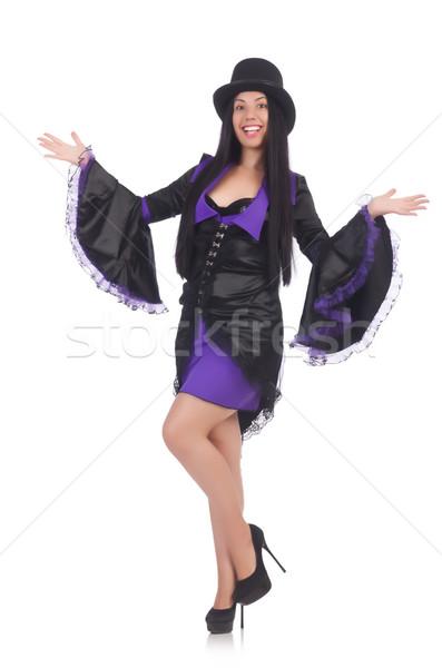 女性 黒 バイオレット ドレス 孤立した 白 ストックフォト © Elnur