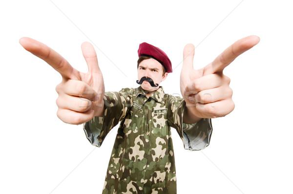 Сток-фото: смешные · солдата · военных · стороны · человека · фон