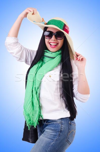 Fiatal nő kész nyári vakáció üzlet lány háttér Stock fotó © Elnur