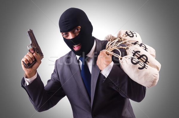 Gangster sacs argent blanche homme sac Photo stock © Elnur