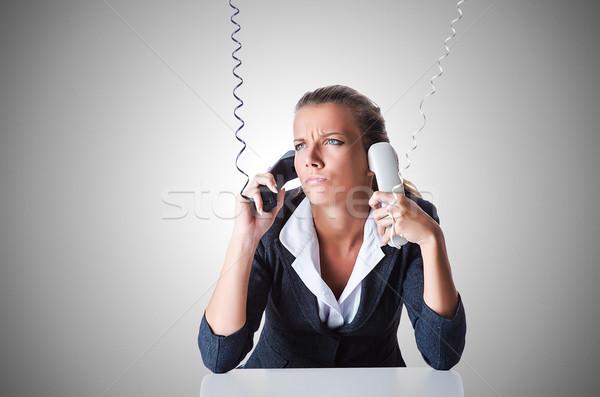 женщины helpdesk оператор белый бизнеса лице Сток-фото © Elnur