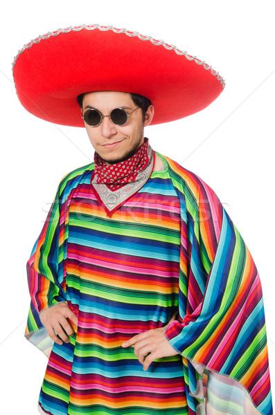 Funny mexican odizolowany biały człowiek Zdjęcia stock © Elnur