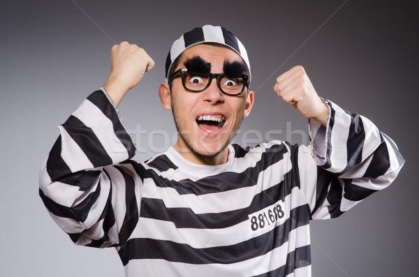 面白い 囚人 孤立した グレー 楽しい 黒 ストックフォト © Elnur