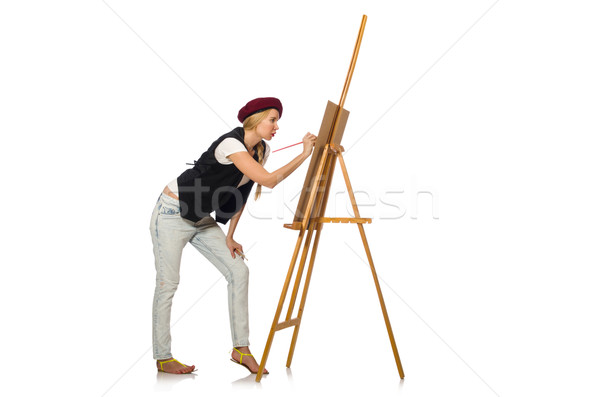 Young artist isolated on white Stock photo © Elnur