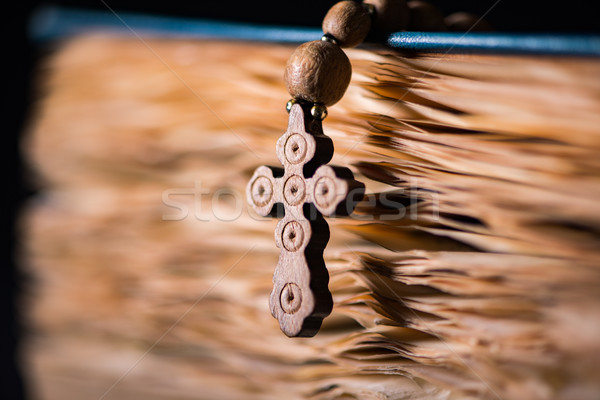 The bible and cross in religious concept Stock photo © Elnur