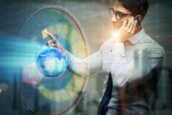 Zakenman wereldwijde business business wereldbol wereld aarde Stockfoto © Elnur