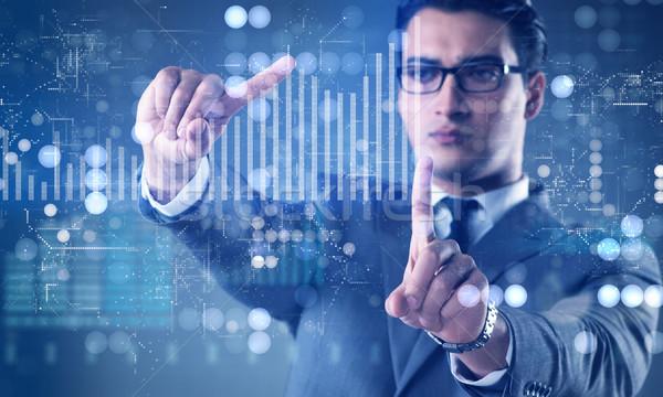男 在庫 取引 ビジネスマン ビジネス お金 ストックフォト © Elnur