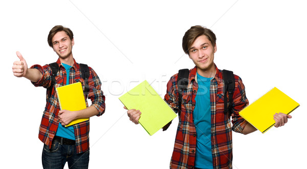 Composite photo of student with books Stock photo © Elnur
