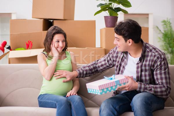 Hombre embarazadas esposa mujer bebé Foto stock © Elnur