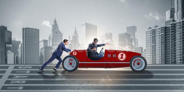 Zakenman auto voortvarend teamwerk business man Stockfoto © Elnur