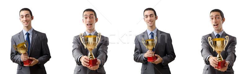 Collage of businessman receiving award Stock photo © Elnur