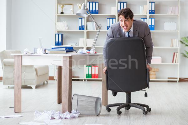 üzletember szórakozás elvesz törik irodai munka jókedv Stock fotó © Elnur