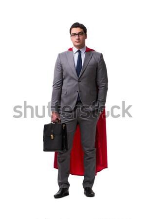 Stockfoto: Zakenman · geïsoleerd · witte · business · hemel