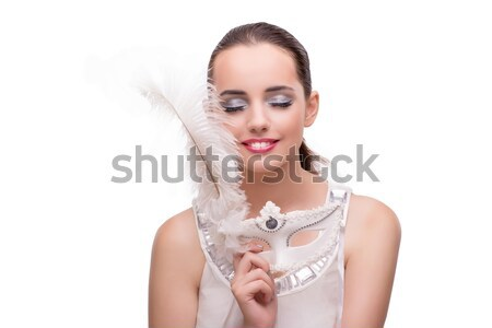 Young beautiful female fashion model with make up Stock photo © Elnur