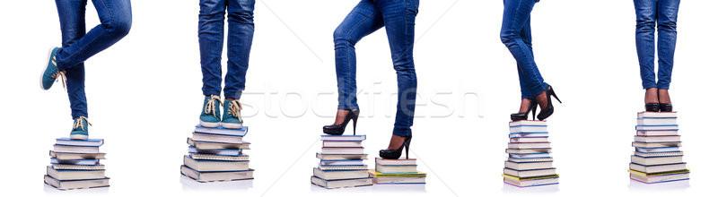 Escalada pasos conocimiento educación libro libros Foto stock © Elnur