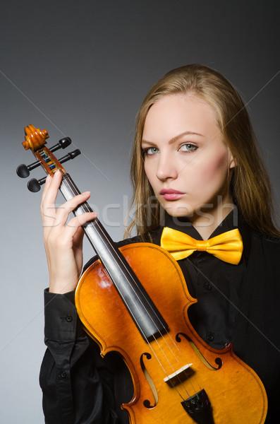 Kobieta musical sztuki koncertu czarny młodych Zdjęcia stock © Elnur