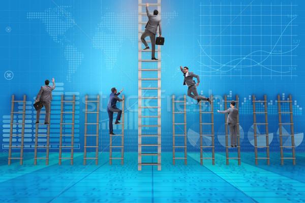 Competição empresário concorrentes executivo corporativo companhia Foto stock © Elnur
