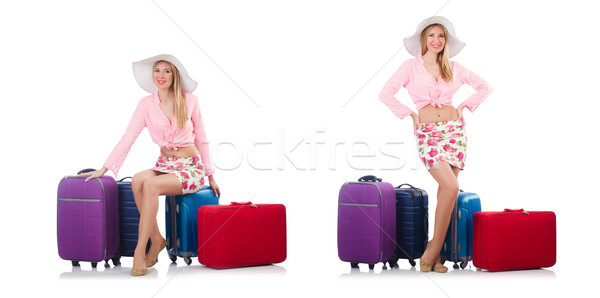 Nő utazás nyári vakáció tengerpart lány repülőtér Stock fotó © Elnur