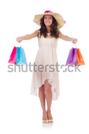 Housewife after taking the shower on white Stock photo © Elnur